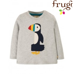 "frugi - Bio Baby Langarmshirt ""Magic Number"" mit Papageientaucher-Motiv"