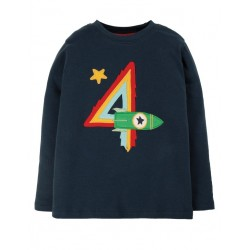 "frugi - Bio Kinder Langarmshirt ""Magic Number"" mit Rakten-Applikation"