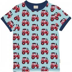 Maxomorra - Bio Kinder T-Shirt mit Traktor-Allover