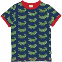 Maxomorra - Bio Kinder T-Shirt mit Krokodil-Allover