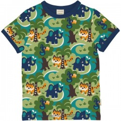 Maxomorra - Bio Kinder T-Shirt mit Dschungel-Allover