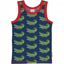 Maxomorra - Bio Kinder Unterhemd mit Krokodil-Allover