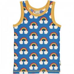 Maxomorra - Bio Kinder Unterhemd mit Regenbogen-Allover
