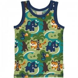 Maxomorra - Bio Kinder Unterhemd mit Dschungel-Allover