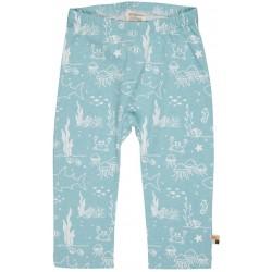 loud + proud - Bio Kinder Jersey Hose mit Meerestiere-Allover, lagoon