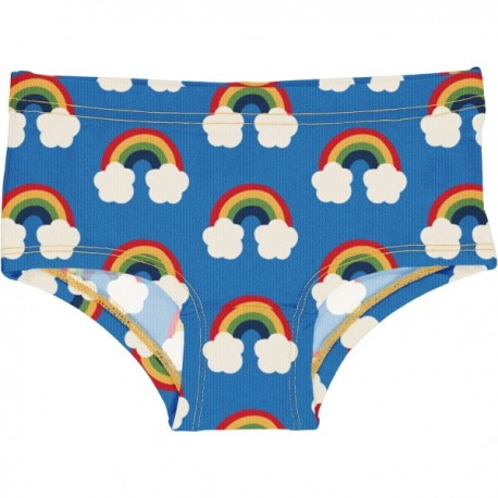 Maxomorra - Bio Kinder Panty mit Regenbogen-Allover