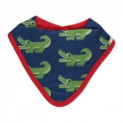Maxomorra - Bio Baby Tuch mit Krokodil-Allover