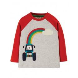 """frugi - Bio Kinder Langarmshirt """"Henry"""" mit Traktor-Applikation"""