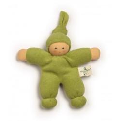 Nanchen Natur - Bio Baby Pimpel 17cm, grün