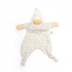 Nanchen Natur - Bio Baby Sternengreifling 21cm, beige