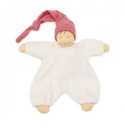 Nanchen Natur - Bio Baby Schlafpüppchen 27cm, rot