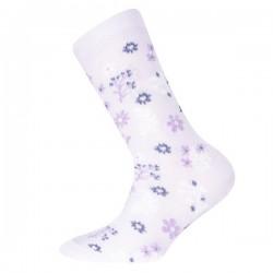 Ewers - Bio Kinder Socken mit Blumen-Motiv, lila