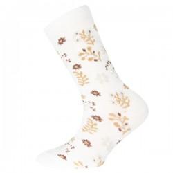 Ewers - Bio Kinder Socken mit Blumen-Motiv, latte