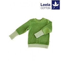 Leela Cotton - Bio Kinder Nicki Sweatshirt, waldgrün
