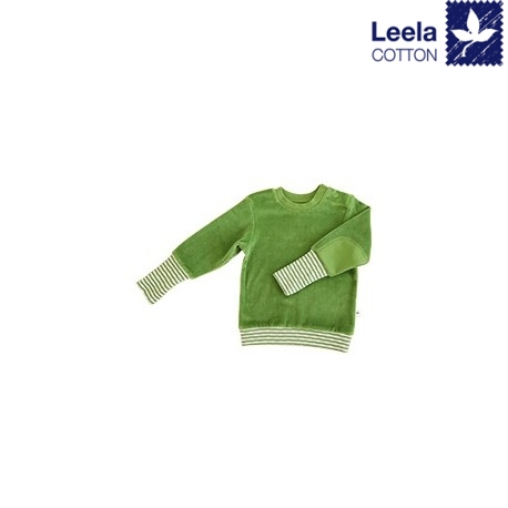 Leela Cotton - Bio Kinder Nicki Sweatshirt, waldgrün