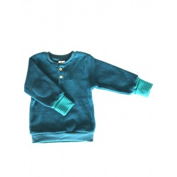Leela Cotton - Bio Kinder Fleece Sweatshirt, donaublau