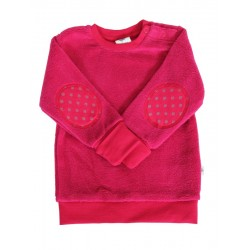 Leela Cotton - Bio Kinder Fleece Sweatshirt, persischrot