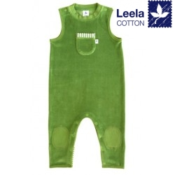 Leela Cotton - Bio Baby Nicky Strampler, waldgrün