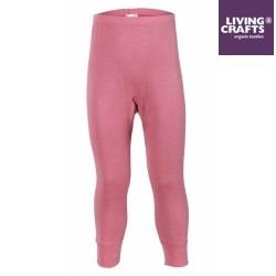 LIVING CRAFTS - Bio Kinder Unterhose lang, Wolle/Seide, rosa