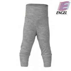 ENGEL - Bio Baby Hose mit Nabelbund, Wolle/Seide, grau
