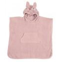 Kikadu - Bio Kinder Badeponcho Hase 64x62cm, rosa