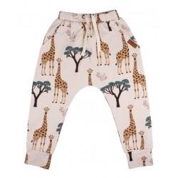 Walkiddy - Bio Kinder Sweathose mit Giraffen-Allover