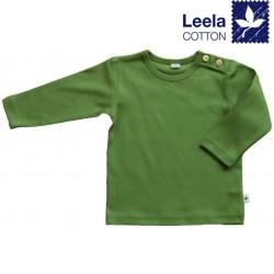 Leela Cotton - Bio Kinder Langarmshirt, waldgrün
