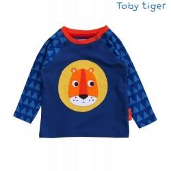 Toby tiger - Bio Baby Langarmshirt mit Löwen-Motiv