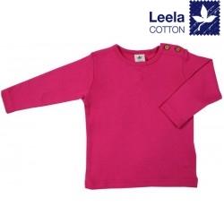 Leela Cotton - Bio Kinder Langarmshirt, pink