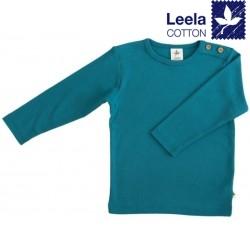 Leela Cotton - Bio Kinder Langarmshirt, ozeanblau