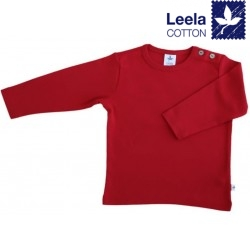 Leela Cotton - Bio Kinder Langarmshirt, ziegelrot