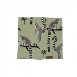 Walkiddy - Bio Kinder Schlauchschal mit Lemuren-Allover