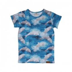 Walkiddy - Bio Kinder T-Shirt mit Delfin-Allover