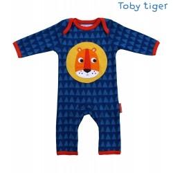 Toby tiger - Bio Baby Strampler mit Löwen-Motiv