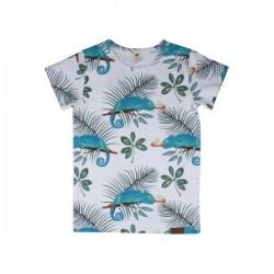 Walkiddy - Bio Kinder T-Shirt mit Chameleon-Allover