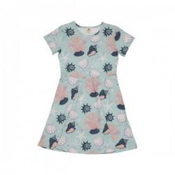 Walkiddy - Bio Kinder Jersey Kleid mit Muschel-Allover