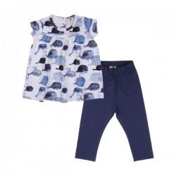 Walkiddy - Bio Baby Set Kleid und Leggings mit Babywal-Allover