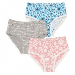 kite kids - Bio Kinder Slips 3er Pack mit Blumen-Motiven