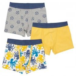 kite kids - Bio Kinder Hipshorts 3er Pack mit Oktopus/Fußball-Motiv