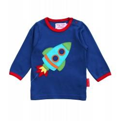 Toby tiger - Bio Baby Langarmshirt mit Raketen-Motiv