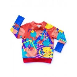 merle kids - Bio Kinder Sweatshirt mit Spielplatz-Motiv