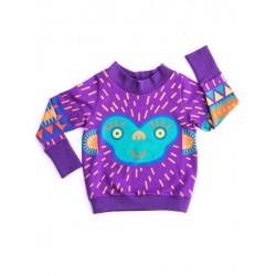 merle kids - Bio Kinder Sweatshirt mit Affen-Motiv