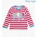 Toby tiger - Bio Baby Langarmshirt mit Elefanten-Motiv und Streifen