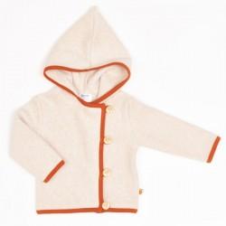 Cheeky Apple - Bio Kinder Fleece Jacke, nude meliert/rost
