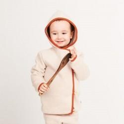 Cheeky Apple - Bio Baby Fleece Jacke, nude meliert/rost
