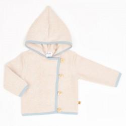 Cheeky Apple - Bio Baby Fleece Jacke, nude meliert/frost
