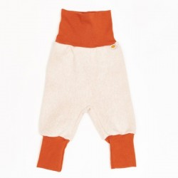 Cheeky Apple - Bio Kinder Fleece Hose, nude meliert/rost