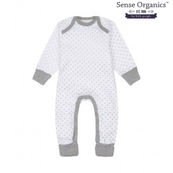 "Sense Organics - Bio Baby Strampler langarm ""Wayan"" mit Sternen-Allover"