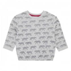 """Sense Organics - Bio Kinder Sweatshirt """"Elira"""" mit Leoparden-Allover"""