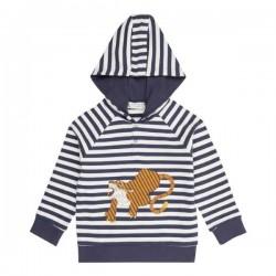 """Sense Organics - Bio Kinder Sweatshirt """"Mauro"""" mit Tiger-Applikation und Streifen"""